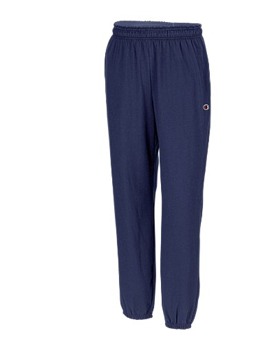 Champion Men's Closed Bottom Light Weight Jersey Sweatpant, Navy, X-Large (Champion Navy Pants compare prices)