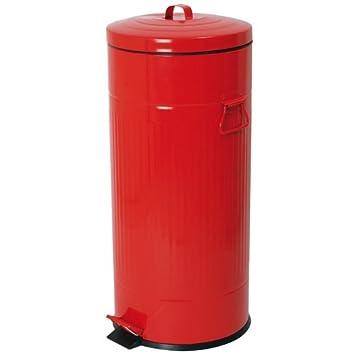 poubelle de cuisine epoxy rouge 30l cuisine amp maison. Black Bedroom Furniture Sets. Home Design Ideas