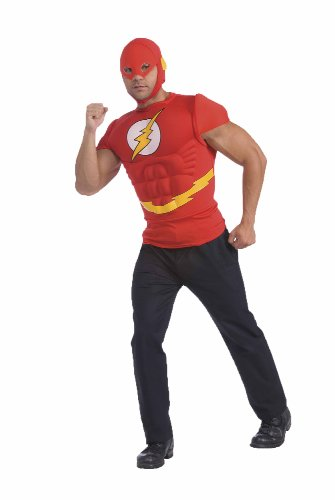 Rubie's Costume Co The Flash Muscle Chest Top with Mask