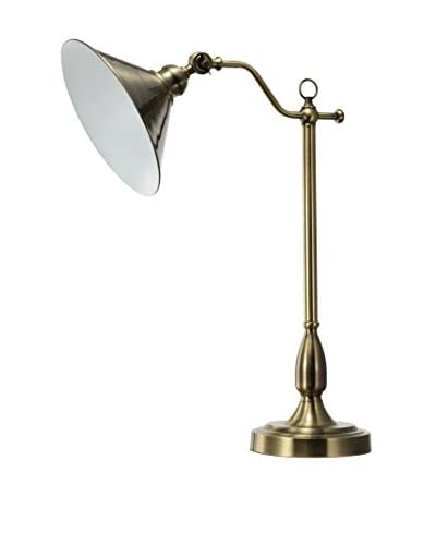 A & B Home Claremont Desk Lamp, Brass