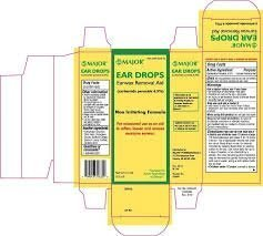 Ear Drops Earwax Removal Aid Non Irritating Formula 3 Pack (3x15ml=45ml) *Compare to Debrox and Save!* by Debrox