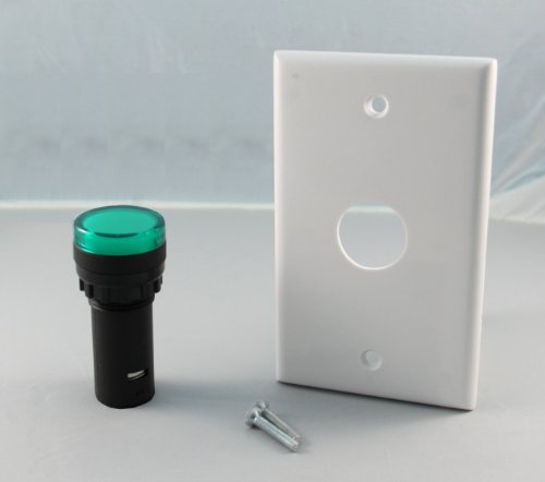 Led 22Mm Indicator Light With Wall Plate, 24Vdc Green