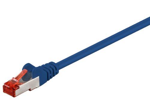 Internet Kabel 50cm blau, doppelt geschirmt, Cat.6