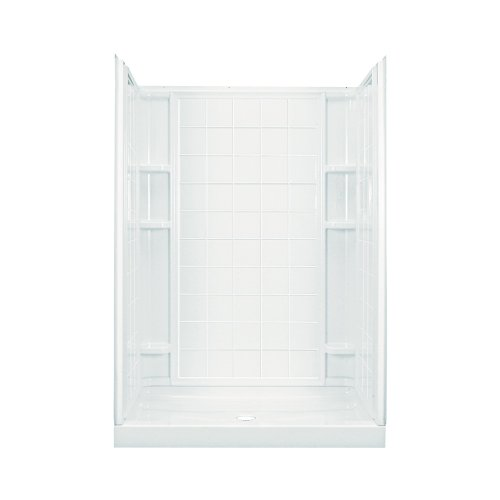 Sterling Plumbing 72130100-0 Plumbing Ensemble 60-Inch by 35-1/4-Inch by 77-Inch Shower Stall, White