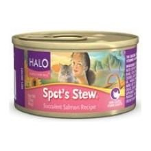 Halo Spot's Stew Succulent Salmon Recipe Canned Cat Food