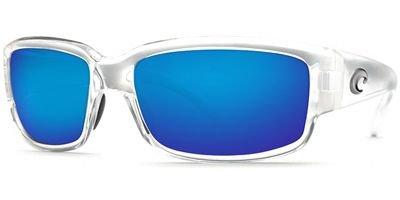 Costa Del Mar Caballito Adult Polarized Sunglasses, Crystal/Blue Mirror Glass - W580, Medium
