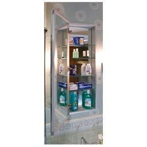 Century Bathworks 1570 6 IN-Depth Flat Mirror Black Interior Bathroom Fixtures Single Door 4