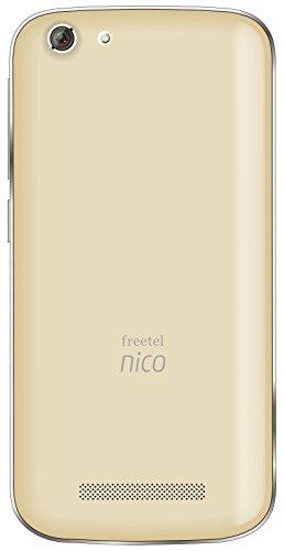 freetel フリーテル SIMフリー スマートフォン Nico ( Android 4.4 / 5.0inch / 標準 SIM Dual SIM / シャンパン ゴールド ) FT141B_NICO_CG