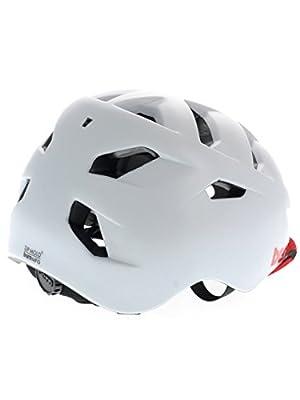 Bern Men's Allston Zip Mold Helmet with Flip Visor-Satin White, Small/Medium/54-57 cm from Bern
