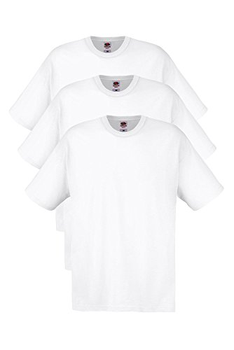 t-shirt-unisex-3-pack-fruit-of-the-loom-girocollo-manica-corta-bianco-taglia-m