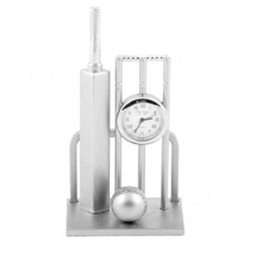 Orologio Miniatura Mazza, Pallina e Porta da Cricket