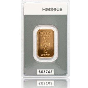Goldbarren 10 g 10g Gramm Heraeus - Feingold 999.9 im Scheckkartenformat - LBMA zertifiziert - Anlagegold24 h 7 Tage online kaufen - Edelmetalle als Anlage und Geschenk