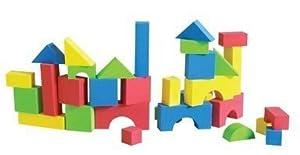 Educolor Foam Blocks, 80 Pieces