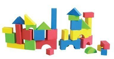 Educolor Foam Blocks, 80 Pieces