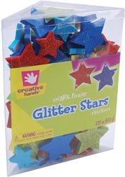 Fibre Craft Foam Glitter Stickers 2.25 Ounces Stars 81286; 3 Items/Order