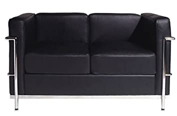 RetroMod Cubo2 Loveseat - Black