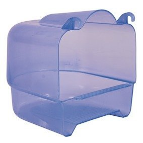 Trixie Large Bird Bath. Plastic, Bath, Transparent