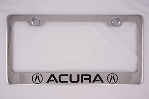 Acura Chrome License Plate Frame with Caps (Mdx License Plate Frame compare prices)