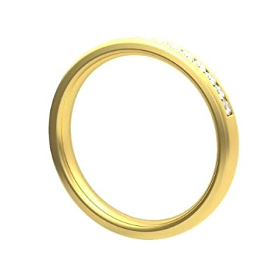 0.30 carat Diamond Half Eternity Ring for Women. F/VS1 Round Brilliant Diamonds in Channel Setting in 18ct Yellow Gold