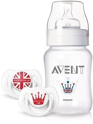Phillips Avent Royal British Limited Edition Soother Dummy & 260Ml Bottle Set Good Gift For Mom And Baby Fast Shipping Ship Worldwide