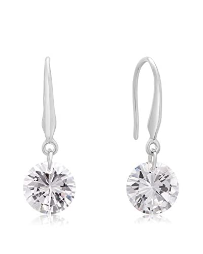 Adoriana Silver-Plated Floating Swarovski Elements Dangle Earrings