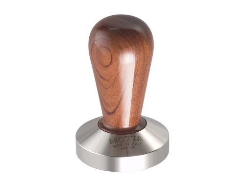 motta-111-tamper-handle-bubinga-curved-base-stainless-steel-228-inches