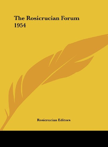 The Rosicrucian Forum 1954