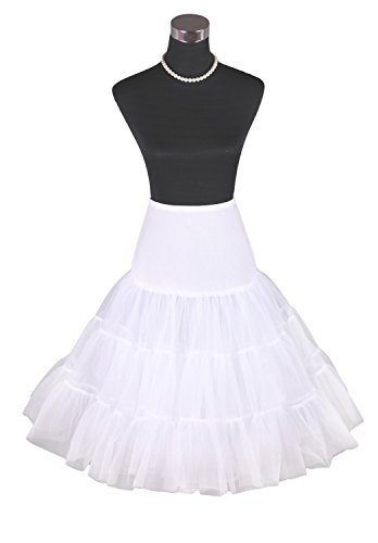 Factoryoffers Women's 50s Vintage Rockabilly Petticoat Skirt Different Colors