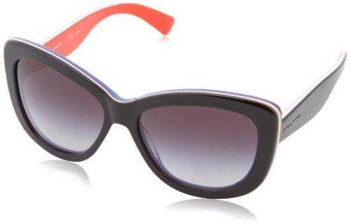 D&G Dolce & Gabbana Women'S 0Dg4206 Butterfly Sunglasses,Black On Red,57 Mm