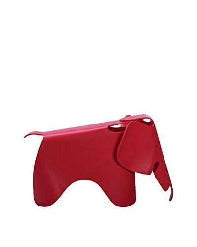 Lo+deModa Figura Decorativa Baby Elephant Rojo