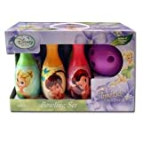 Walt Disney Tinkerbell Fairies Bowling Set in Display Box include 6 Pins and Bowling Ball Set