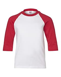 ADULT HEAVYWEIGHT RAGLAN ¾ SLEEVE TEE