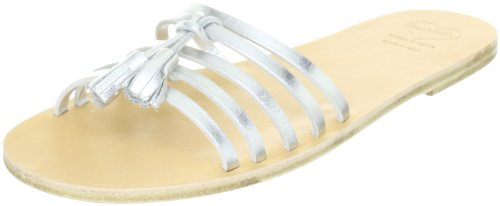 Swedish Hasbeens Tassel Sandal Flat 006, Sandali Donna, Argento (Silber (Silver)), 40