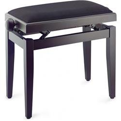 Stagg Adjustable Piano Stool - Matt Rosewood w/ Black Top