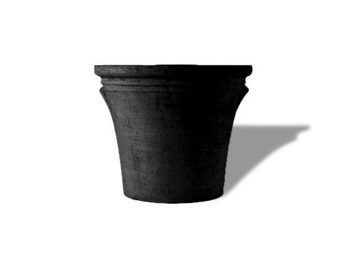 Amedeo Design Resinstone 2507-2B Textured Mediterranean Planter, 28 By 28 By 24-Inch, Black