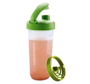 Tupperware Quick Shake Green 20 Oz Measure MIX Protein Shakes New Design Twist on Seal