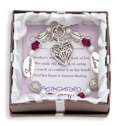 Love, Mother, Forever Silver & Crystal Expressively Yours Bracelet