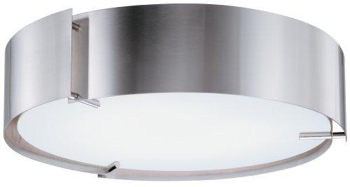 Lithonia 11762 Pst M2 Inertia Energy Star Flush Mount Ceiling Light, Polished Steel