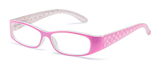 Specs Pink Reading Glasses, 1.00 Magnification, Quilted Crystal Design (Crystal Computer compare prices)