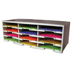 -- Storex Literature Organizer, 12 Section, 10 5/8 x 13 3/10 x 31 2/5, Gray
