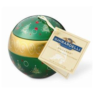 Cyber Monday Ghirardelli Chocolate Green Christmas Ornament Ball