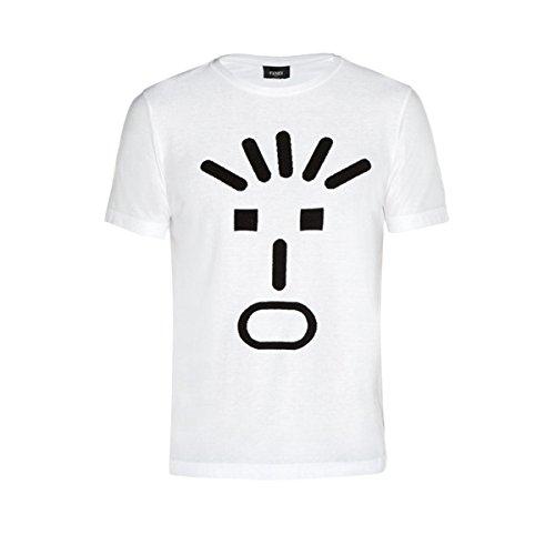 (フェンディ) Fendi メンズ トップス Tシャツ Faces-print crew-neck T-shirt 並行輸入品