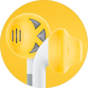 Earskinz Earbud Covers (Es1) - Yellow - For Iphone 4S / 4 / 3Gs / 3G, Ipod Touch, Ipod Nano, One Size