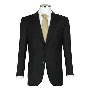 Cerruti Stripe Suit Black, 38S