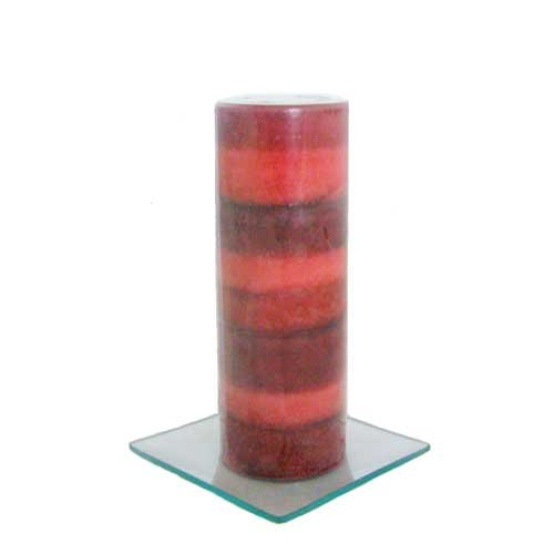 Pomegranate Scented Pillar Candle - 120 Hours