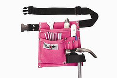 Bourn Tough LP-34 5 POCKET SUEDE LEATHER PINK TOOL BELT POUCH