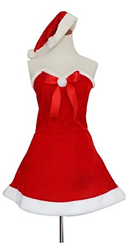 Black Temptation Women's Sexy Mrs Santa Claus Christmas Party Costume