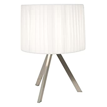 home design aluminum table lamp with pleated fabric shade toronto design desk lamp aluminium table light