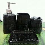 Bathroom Accessory Sets - Classic black and white ceramic bathroom suite / European minimalist style wash kit / bathroom set