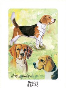 Best Friends Playing Cards, by Ruth Maystead - Beagle